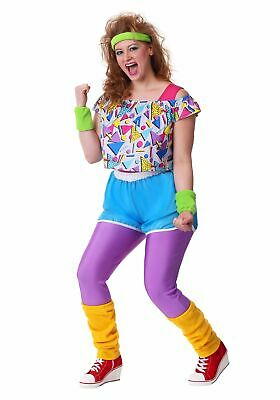 AU71.36 • Buy Women's Plus Size Work It Out 80's Costume