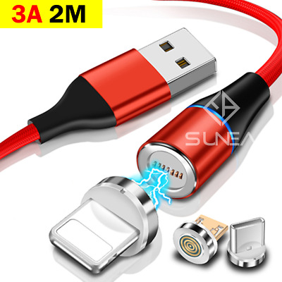 AU5.95 • Buy Magnetic Micro/Type C/iP Cable To USB Fast Charging Data Charger For IPhone 2M