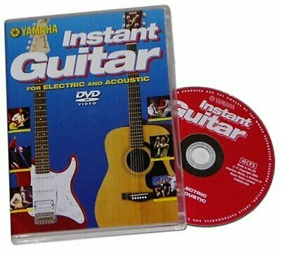 Yamaha Instant Guitar DVD Tuition Learn Electric & Acoustic Guitar  • 3£