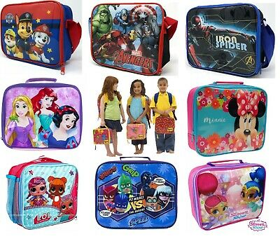 Kids Insulated Character Lunch Box Bag Pack Childrens Boys Girls School Food UK • 5.95£