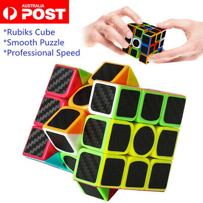 AU12.69 • Buy Magic Cube 3x3x3 Rubiks Puzzle Fast Speed Smooth Stickerless Toy Gift For Kids