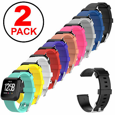 $ CDN6.92 • Buy 2-Pack Replacement Rubber Classic Band Strap Wristband For Fitbit Versa Watch