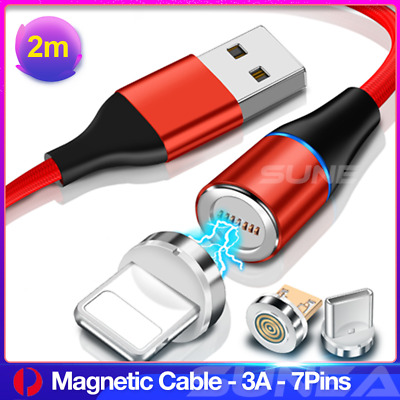AU5.99 • Buy 360° Magnetic Lightning Cable/Micro/Type C To USB Fast Charging Charger Cord 2M