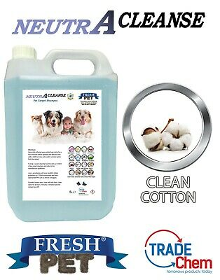 Carpet Cleaning Shampoo Solution Pet Odour Eliminator COTTON Low Foam 5L NEUTRA • 10.45£