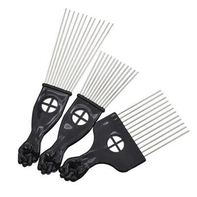 $6.15 • Buy Detangle Metal Afro Comb African Pick Hair Brush Hairdressing Styling Tool US