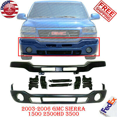 $415 • Buy Front Primed Steel Bumper With Brackets + Valance For 03-06 GMC Sierra 1500-3500