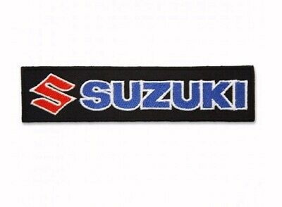 $10.95 • Buy Suzuki Logo Black Embroidered Iron-On Sew-On Patch - NEW