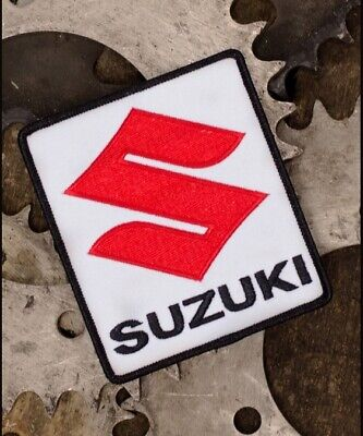 $10.95 • Buy Suzuki Logo Red White Embroidered Iron-On Sew-On Patch - NEW