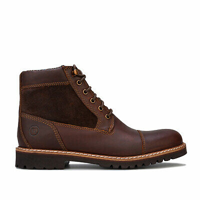 Mens Rockport Marshall Rugged Cap Toe Boots In Brown • 48.94£