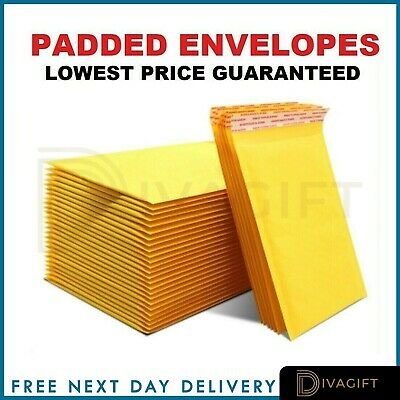 £16.99 • Buy Padded Bubble Envelopes Bags Postal Wrap - All Sizes - Various Quantities Gold