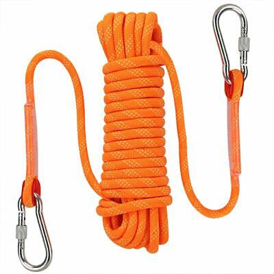 Outdoor Climbing Rope 10MM Diameter Fire Escape Safety Rescue Rappelling Rope • 14.99£