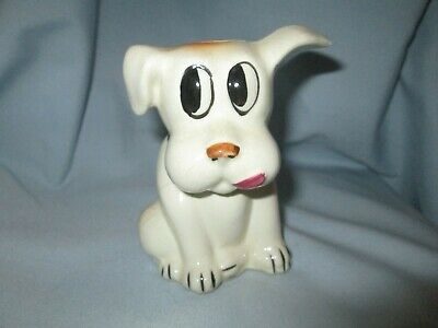 Old Ceramic Big Eyed Dog Bank  • 15.43£