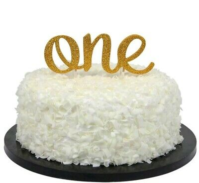 AU8.95 • Buy Premium Glitter Big One Cake Topper Baby Shower Toppers 1st First Birthday Party