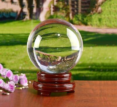£31.66 • Buy 80/100/150mm Clear Crystal Ball K9 Glass Lens Sphere Photography With Wood Base