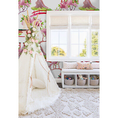 £44.95 • Buy Japanese Removable Wallpaper Pink And White Wall Mural Wall Decor