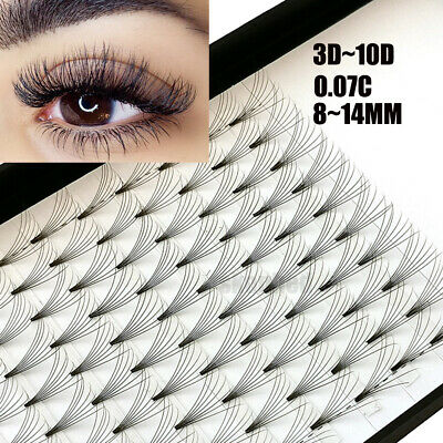 AU11.76 • Buy 12 Lines 3D~10D Russian Premade Volume Fans Eyelashes C Curl 0.07 Lashes CY