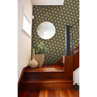 £39.95 • Buy Antique Palette Black And Gold Diagonal Japanese  Wall Mural Wallpaper