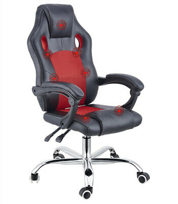 AU229 • Buy 8 Point Massage Racing Office Chair Executive Heated Computer Leather Game Red