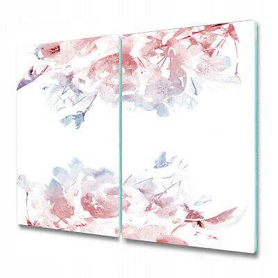 Tempered Glass Worktop Protector Serenity Rose Quartz Floral 2x30x52 • 34.95£