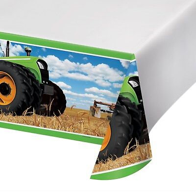 AU12.99 • Buy Tractor Farm Birthday Party Supplies Plastic Tablecloth Table Cover