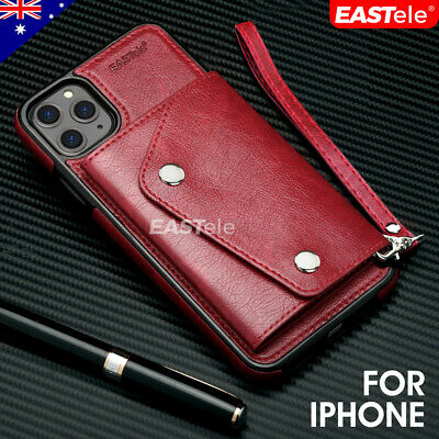 AU9.99 • Buy Apple IPhone 11 Pro Max XS XR X Luxury Leather Wallet Card Shockproof Case Cover