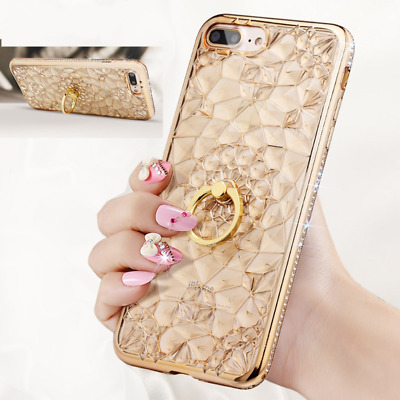 AU11.58 • Buy Luxury Case With Diamond Ring Holder Phone For Iphone 7 8 Plus 11 12 Cases Cover