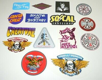 $ CDN99.99 • Buy Powell Peralta Skateboards Supreme NEW Sticker LOT 15 Independent Creature MORE