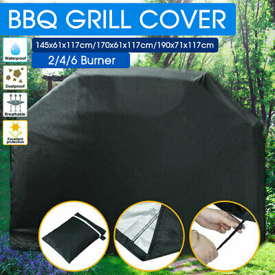 AU20.99 • Buy BBQ Cover 2/4/6 Burner Waterproof Outdoor Gas Charcoal Barbecue Grill Protector