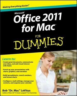 AU23.86 • Buy Microsoft Office 2011 For Mac For Dummies, Paperback By Levitus, Bob, Brand N...