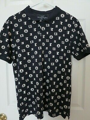 LOGG Label Of Graded Goods H&M Print Polo Mens Small Short Sleeves • 14.99$