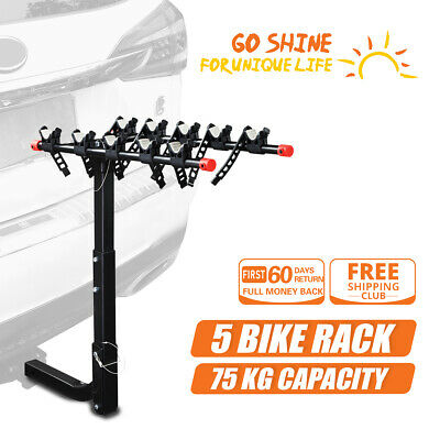 AU124.99 • Buy IKURAM 5 Bike Rack Bicycle Carrier Car Rear 2  TowBar Hitch Mount Foldable Steel