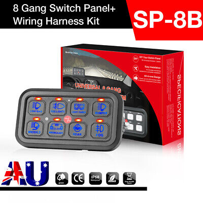 AU184.99 • Buy 8 Gang LED Switch Control Panel Electronic Relay System 12V 24V Car For Lights