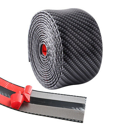 $20.99 • Buy 5CM*1M Car Carbon Fiber Rubber Sticker Door Pedal Protect Parts Accessories