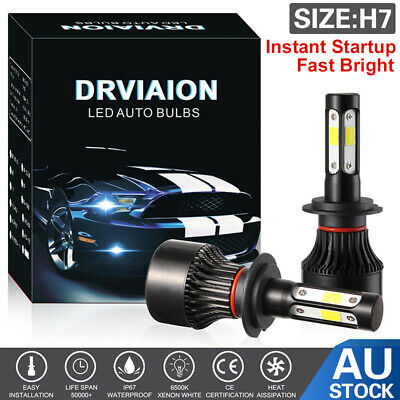 AU26.03 • Buy H7 LED Headlight Light Bulbs Replace HID Halogen 200W 20000LM 6000K White Globes