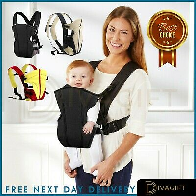 Baby Carrier Backpack New Ergonomic Strong Breathable Adjustable Infant Newborn  • 13.99£