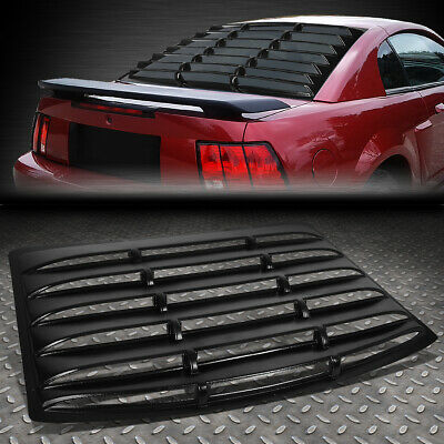 $271.88 • Buy For 94-04 Ford Mustang Coupe Rear Window Louver Windshield Sun Shade Cover Vent