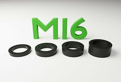 M16 Black Plastic Spacers Standoff Washer Nylon 3mm To 10mm Choice Of Quantity. • 5.49£