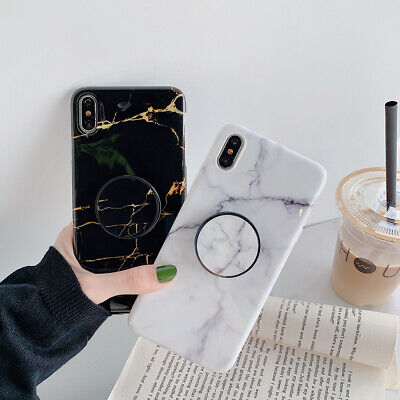 AU12.01 • Buy Luxury Marble Case With Up Holder Phone For Iphone 7 8 Plus SE XR XS Cases Cover