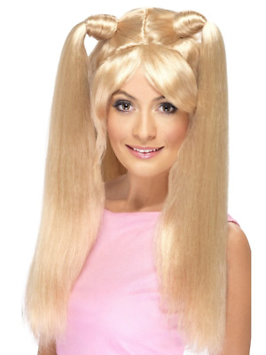 AU29.95 • Buy 1990's Baby Power Blonde Long Pony Tail Fancy Dress Costume Wig Accessory
