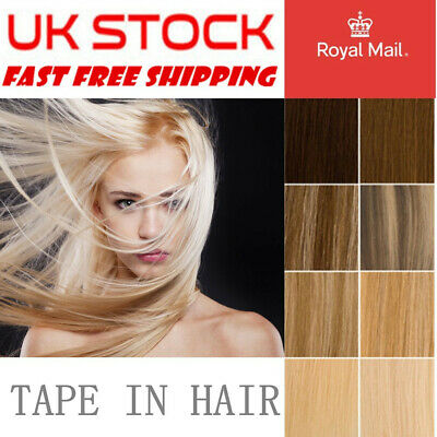 14''-24  Tape-In Russian Remy Thick Human Hair Extensions Skin Weft Ombre 20PCS • 33£