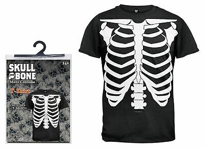 Halloween One Size Fancy Dress Costume Skeleton T-shirt Mens Spooky Scary Party • 8.84£