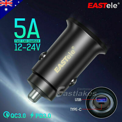AU17.95 • Buy PD FAST CHARGING USB-C Car Charger For Samsung S21 S20 Ultra S10 Note 5G S9