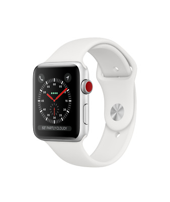 $ CDN649.99 • Buy Apple Watch Series 3 42mm Apple Stainless Steel W/ Soft White Sport Band (NEW)