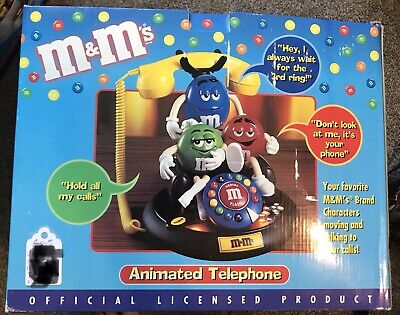 $90 • Buy M&M's Candy ANIMATED Talking Light-Up TELEPHONE Phone Red Green Blue Couch