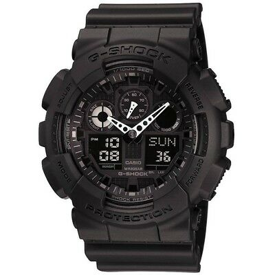 View Details Casio Mens G-Shock Auto LED Light All Black Watch RRP £110 Brand New And Boxed • 64.99£