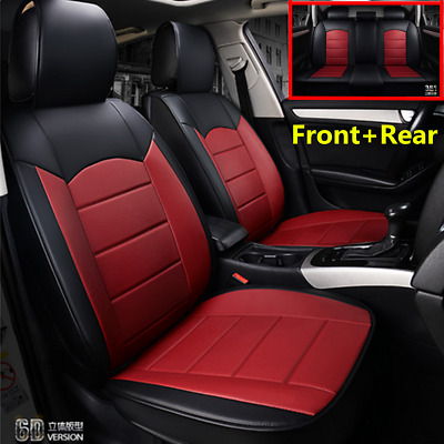 $ CDN136 • Buy Luxury PU Leather Car Seat Cover Front+Rear Full Set For Interior Accessories