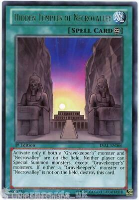 LVAL-EN066 Hidden Temples Of Necrovalley Rare 1st Edition Mint YuGiOh Card • 2.13£