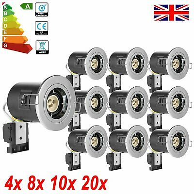 8/10/30Pcs Fire Rated IP65 Downlights Mains LED GU10 Recessed Ceiling Spot Light • 42.57£
