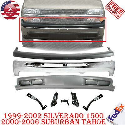 $383.75 • Buy Front Bumper Chrome Steel Kit For 99-2002 Silverado 1500  00-06 Suburban Tahoe