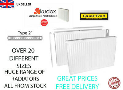 £26.40 • Buy Compact Convector Radiator White Type 21 Double Panel Central Heating PLUMBING